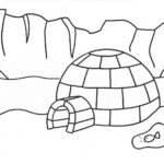 Epic Igloo Eskimo House Coloring Page