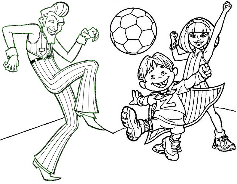 Fun Lazy Town Coloring Sheet