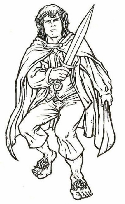 Merijn from Lord of the Rings coloring sheet