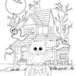 Midnight Bat Halloween beanie boo coloring pages