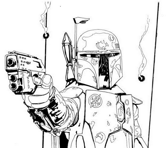 Perfect Boba Fett Coloring Sheet for Star Wars Lovers