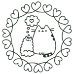 Perfect Enchanting Pusheen the Cat Coloring Page