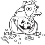 Perry the platypus Halloween coloring sheets