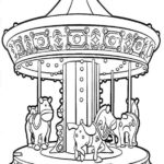 Shining Night Carnival Carousel Coloring Pages