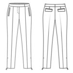 Trousers fashion drawings to color
