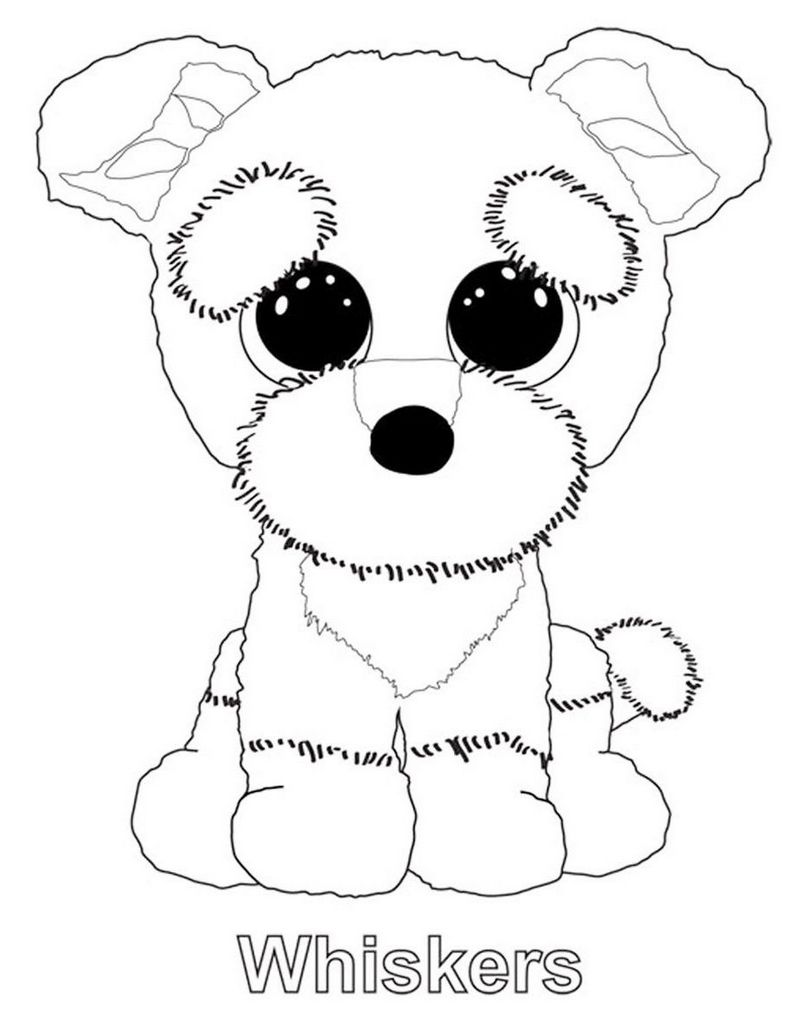 Whiskers from beanie boo coloring sheet