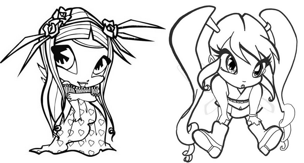 amore and chatta pop pixie coloring page