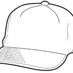 baseball hat coloring page