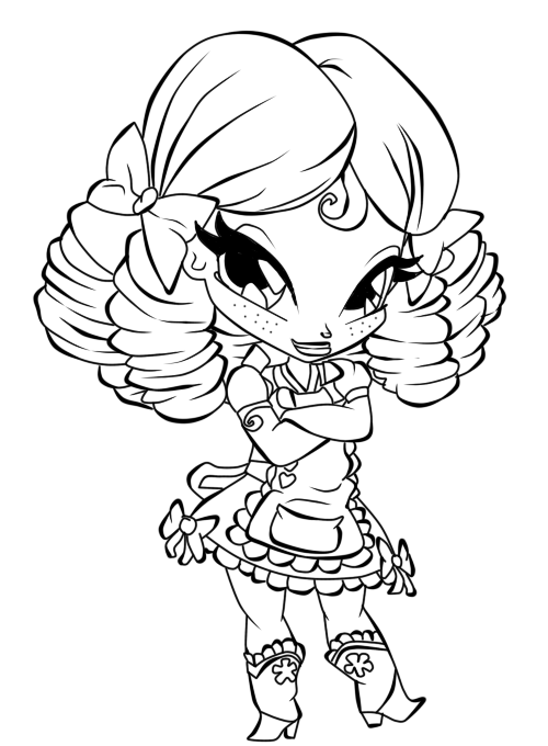 beautiful pop pixie coloring sheet for girls