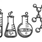 best chemistry instruments lineart coloring sheet for children