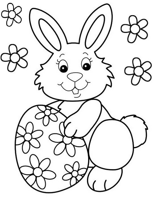 best easter bunny coloring sheet for children