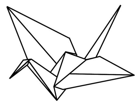 best origami bird coloring sheet for kids