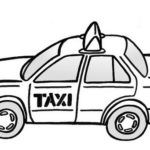 best taxi car coloring sheet