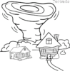 Tornado Coloring Pages for Kids and Grownups