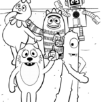 best yo gabba gabba coloring pictures for little kids