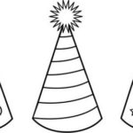 birthday hat coloring page for kids