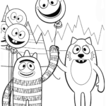 brobee and toode from yo gabba gabba coloring sheets for kids