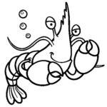 cartoon lobster coloring picture for little one