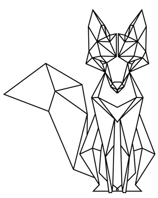 charming origami fox coloring sheet