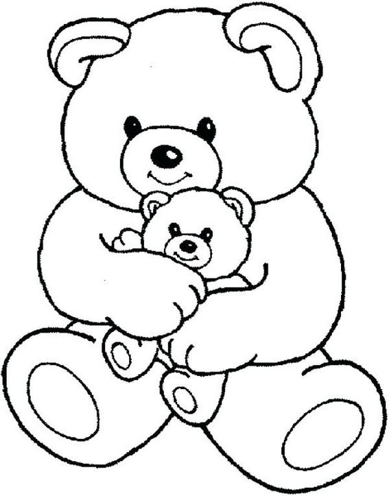 charming teddy bear with little