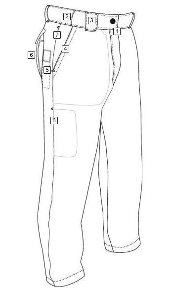 collection of men pants coloring and drawing sheet