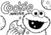 Cookie Monster Coloring Pages Offer Simple Toddler and Preschool Lessons
