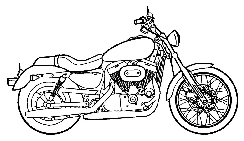 cool harley davidson coloring page