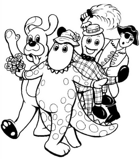 cute wiggles coloring sheet for preschool kids