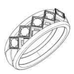 elegant wedding ring coloring and sketch drawing page