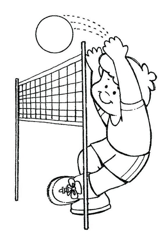 epic volleyball coloring pages for boys