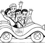 epic wiggles in the car coloring page