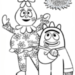 foofa and brobee from yo gabba gabba coloring pictures
