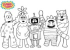 Yo Gabba Gabba Coloring Pages Encourage Kids to Sing and Dance