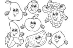 7 Fun Food with Faces Coloring Pages for Children