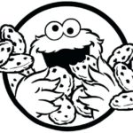 fun cookie monster coloring sheet for preschooler