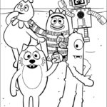 fun yo gabba gabba coloring lineart drawings