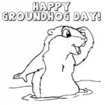 groundhog day coloring sheet for children