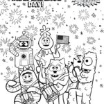 happy independence day themed yo gabba gabba coloring sheet