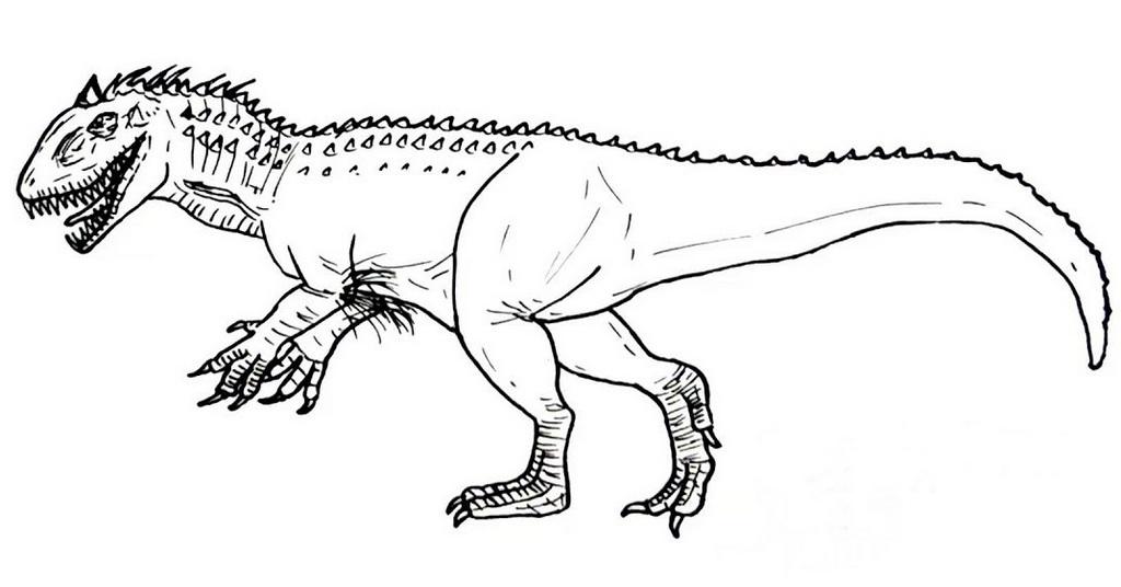 hybrid dinosaur indominus rex coloring picture