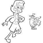 inez and digit of cyberchase coloring pages for 4 yeras and up