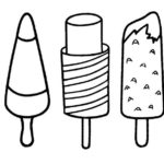 kinds of popsicle flavors coloring sheets
