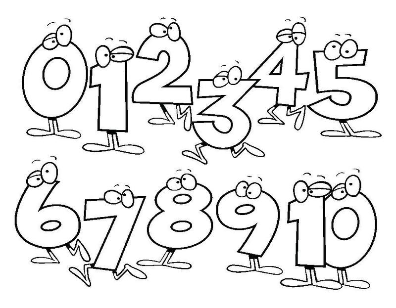 numbering math coloring pages