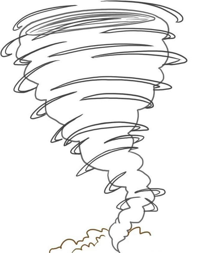 perfect and awesome tornado coloring pages for children