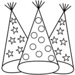 perfect birthday hat coloring page