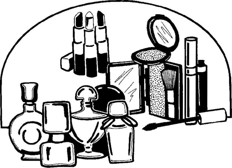 perfect makeup kit coloring page