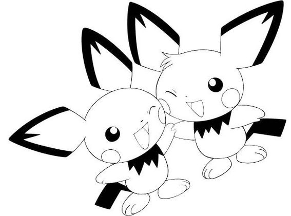 perfect pichu coloring pages for little kids