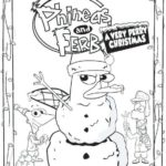 perry the platypus Disney Christmas coloring pages
