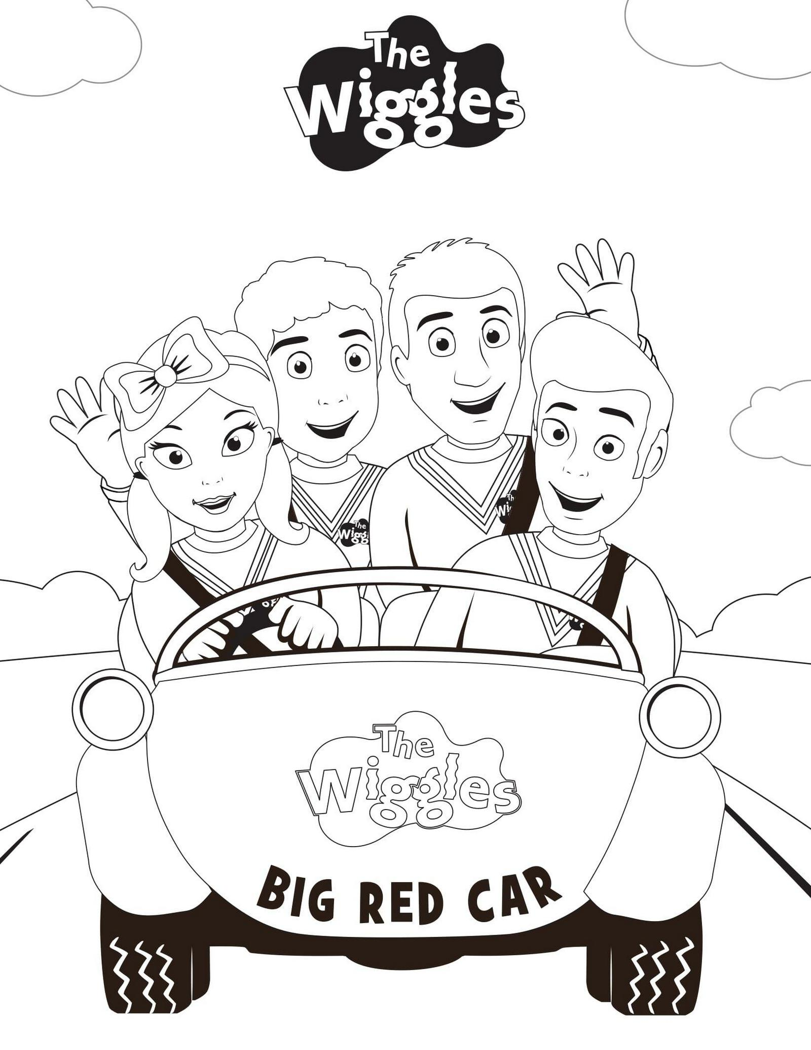 pretty awesome wiggles coloring sheet