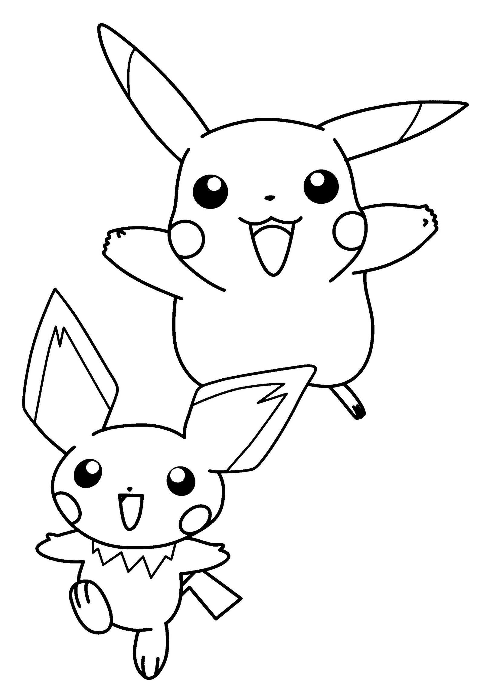 pretty cute pichu coloring picture