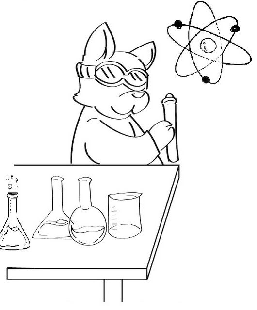 printable science chemistry coloring pages for little scientists
